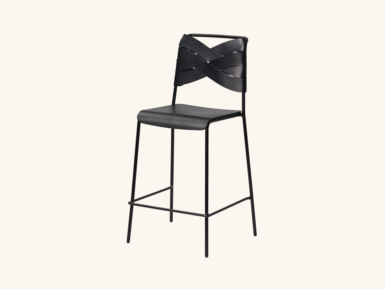 Torso bar stool Black/black