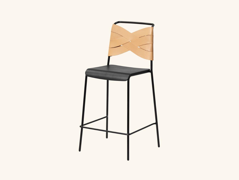 Torso bar stool Black/natural
