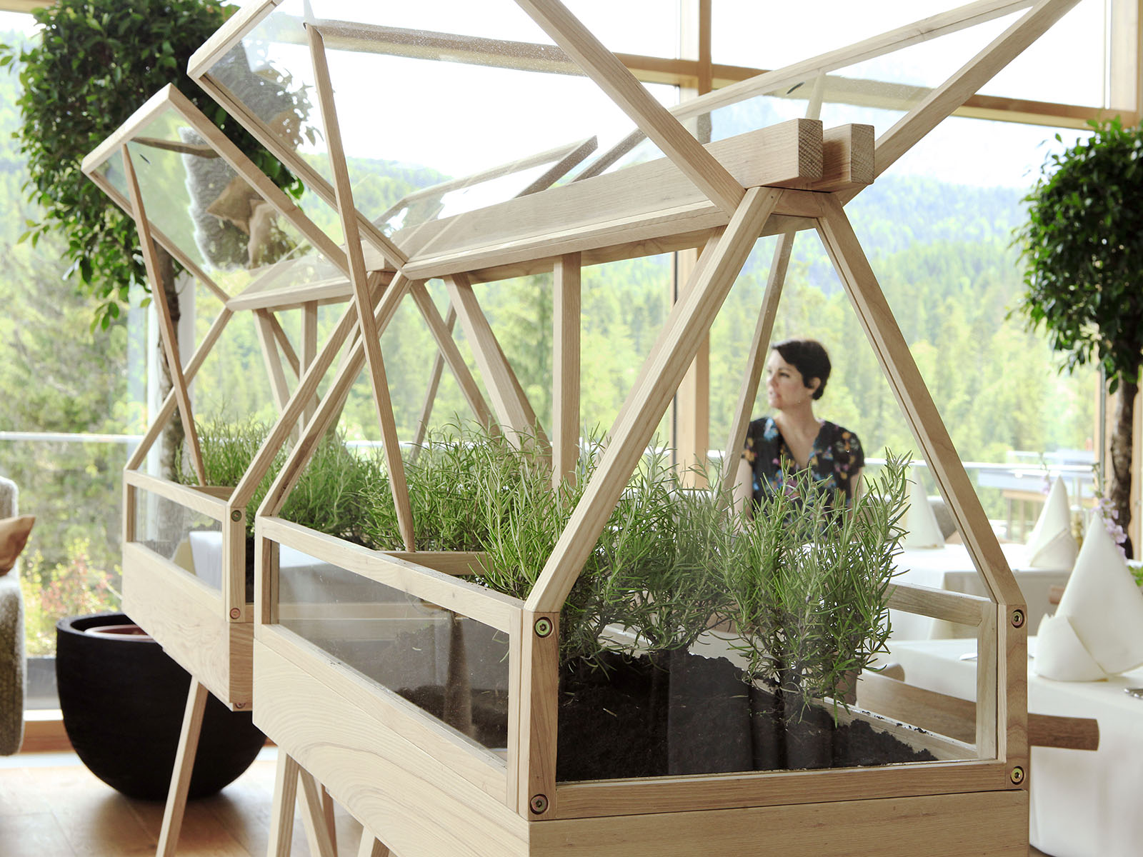 Greenhouse at the spa resort Das Kranzbach in Germany